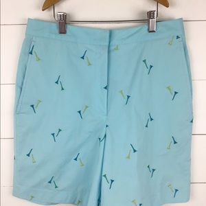 Lilly Pulitzer 8 Shorts High Waisted Blue Golf Tee